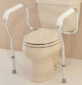 ADJUSTABLE TOILET - SAFETY RAILS